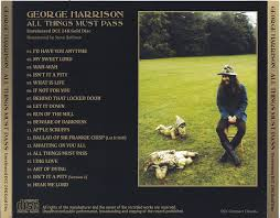 George Harrison – All Things Must Pass Unreleased DCC 24K Gold Disc- 2nd  Press ( 1CD ) Non Label