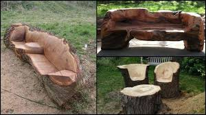 tree trunk chairs furniture made from tree stumps tree stump furniture made from