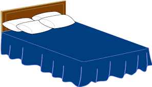 Blue Bed Clip Art at Clkercom vector clip art online royalty