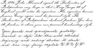forward slanting cursive scripts