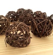 Decorative Balls For Bowl 60 Brown Decorative Balls Farmhouse Style Bowl Filler 51