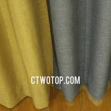 luxury heavy blackout best quality gold gray and brown linen curtains