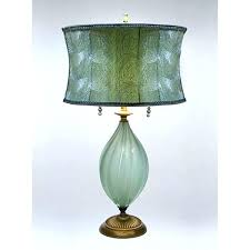 hand blown glass table lamp lamps light fitting ceiling fixtures hand blown blue bubble glass table