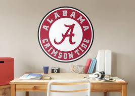 alabama crimson tide circle logo fathead wall decal