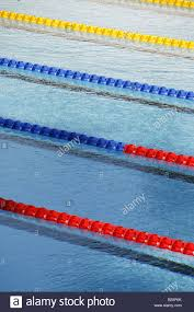 olympic swimming pool lanes. Empty Olympic Size Swimming Pool With Lanes E