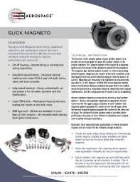 Slick Magneto Application Chart Slick Magnetos Champion Aerospace
