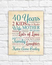 unique customized birthday gift with special information tered throughout this thoughtful print choose any year the perfect gift for a special