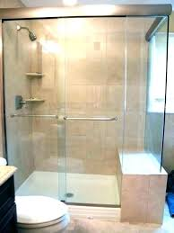 custom shower doors cost with nice door installation info intended for remodel semi sh charming of