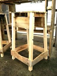 outdoor bar stool plans building