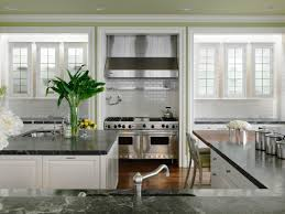 White And Gray Kitchen White Granite Kitchen Countertops Pictures Ideas From Hgtv Hgtv