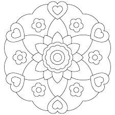 Easy Printable Mandala Coloring Pages Archives My Easter Animals
