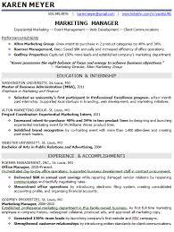 Entry Level Marketing Resume Samples
