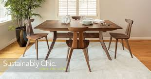 Wood modern furniture Contemporary Audrey Dining Overstock Circle Furniture Modern Curated Contemporary Furniture Boston