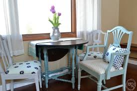 refinished dining chairs in blue gray turquoise