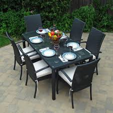 classic black outdoor dining table chair design black outdoor balcony furniture