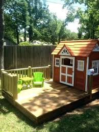 backyard clubhouse ideas free playhouse plans that children crooked