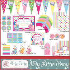 Small Picture My Little Pony Printable Party DecorationsLittlePrintable