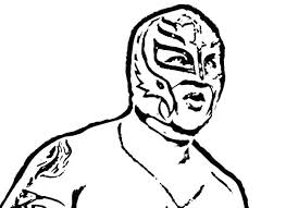 Rey Mysterio Coloring Mask Coloring Pages Trend Coloring Pages Color