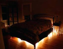 Spice Up Bedroom Decor Rope Lighting Under The Bed Such A Great Idea To  Things