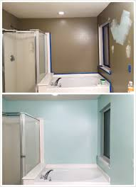 behr bathroom paintBathroom makeover DIY paint Behr whipped mint first time painter