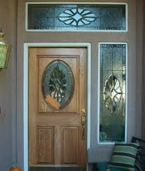 oval stained glass designs for doors with single sidelights and top window