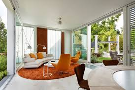 rugs living room nice: orange rug living room orange area rug living room contemporary with beige floor tile nice