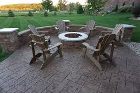 stamped concrete patio with fireplace. Portfolio Tetra Stone Ageless Concrete. Stamped Concrete Patio And Fire Pit Cincinnati Ohio 45140 With Fireplace T