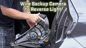 back up camera wiring how to wire to the reverse light youtube Chevy Impala License Plate Bracket at 04 Chevy Impala Reverse Wiring Radio Harness