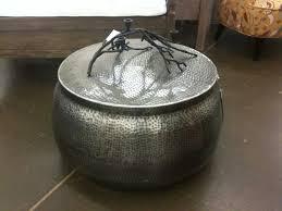 ideas hammered metal coffee table