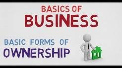 Business Ownership Types Ownership Business Three Main Of Types