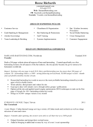 Sample Bartender Bar Manager Resume Examples