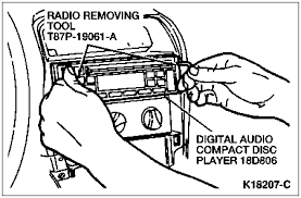 solved 1999 f250 radio wiring diagram fixya flex outward on both sides of the radio chassis 18806 simultaneously and pull the radio chassis from the instrument panel 04320 using the tool as
