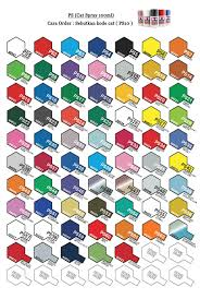 Tamiya Ps Paint Chart Tamiya Polycarbonate Paint Chart Related Keywords
