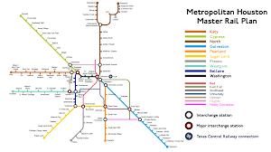 Houston Proposed Light Rail Map Houston Alternate Amnesiac