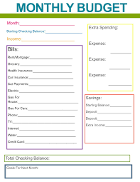 simple printable budget worksheet monthly family budget budgeting organizations and organizing