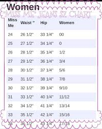 Miss Me Jean Size Chart Sizing Chart For Miss Me Jeans Some Of My Favorite