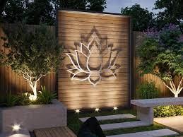 lotus flower large outdoor metal wall