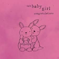 Babygirl Cards Kangaroos New Baby Girl Card Karenza Paperie
