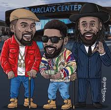 Buy authentic brooklyn nets team merchandise. There S A New Big 3 In Brooklyn Parktyson Follow Kyriewallpaper For More Nba Artwork Nba Basketball Art Funny Basketball Memes
