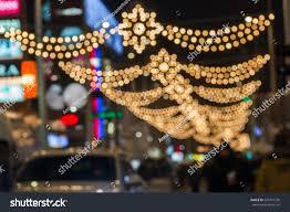Pearl Street Lights Blurred Background Christmas Street Lights People Stock
