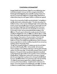 critical analysis george orwell gcse english marked by  page 1 zoom in