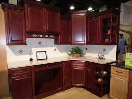Kitchen Wall Finish Kitchen Licious Small Kitchen Cabinet Design In Cherry Cordovan