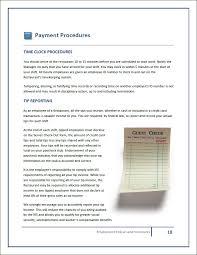 handbook template restaurant employee handbook templates
