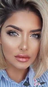 blue eyes blonde hair perfect makeup wedding makeup looks makeup looks 2017