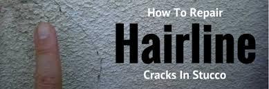 repairing hairline s in exterior