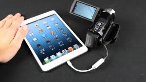 apple ipad lightning to usb adapter sd card reader demo connection kit