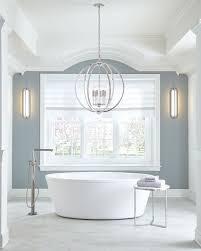 Feiss Corinne 6 Light Pendant In Polished Nickel Bathroom