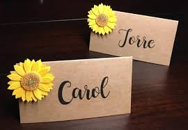 Fall Place Cards Autumn Wedding Place Cards Sunflower Fall Placecards Seat Cards Name Cards Escort Cads Food Labels Food Tents 8 Per Order