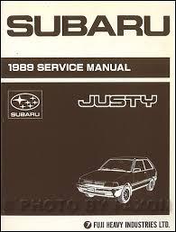 1990 subaru justy repair shop manual original set related items