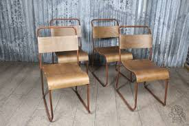 industrial style restaurant furniture. industrial style dining chair stacking in aged copper industrial style restaurant furniture